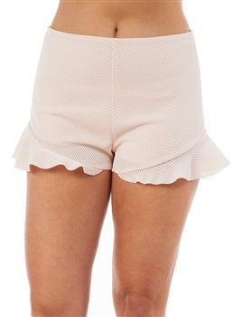 Shorts with Ruffle & Zipper Back