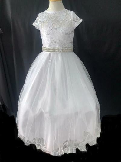Lace Bodice Miniature Bride Gown With Detachable Belt