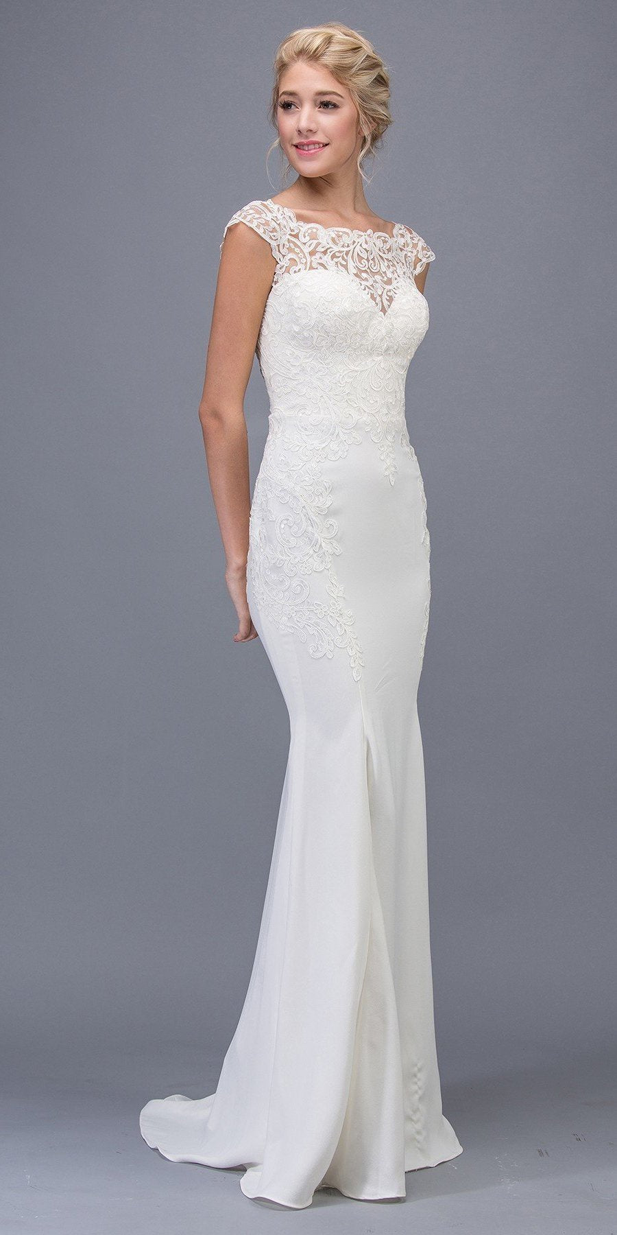White Lace Wedding Gown