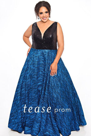 Glitter Embroidered With Full Skirt