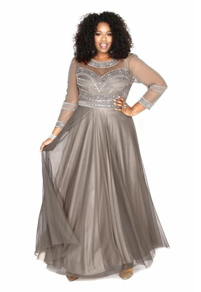 Sweetheart Embellished Lead Gown