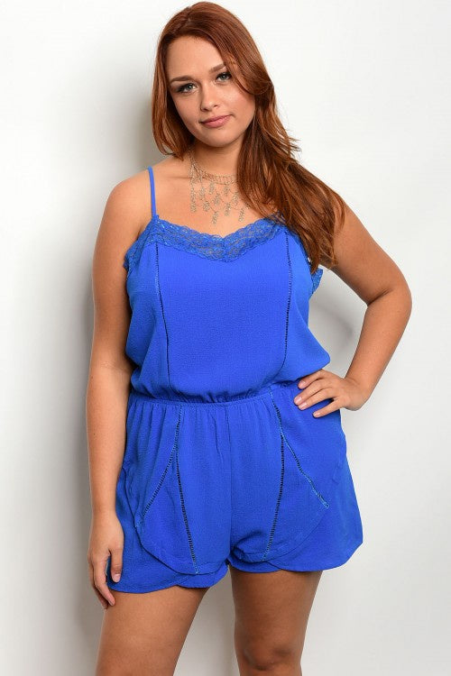 Royal Plus Size Romper