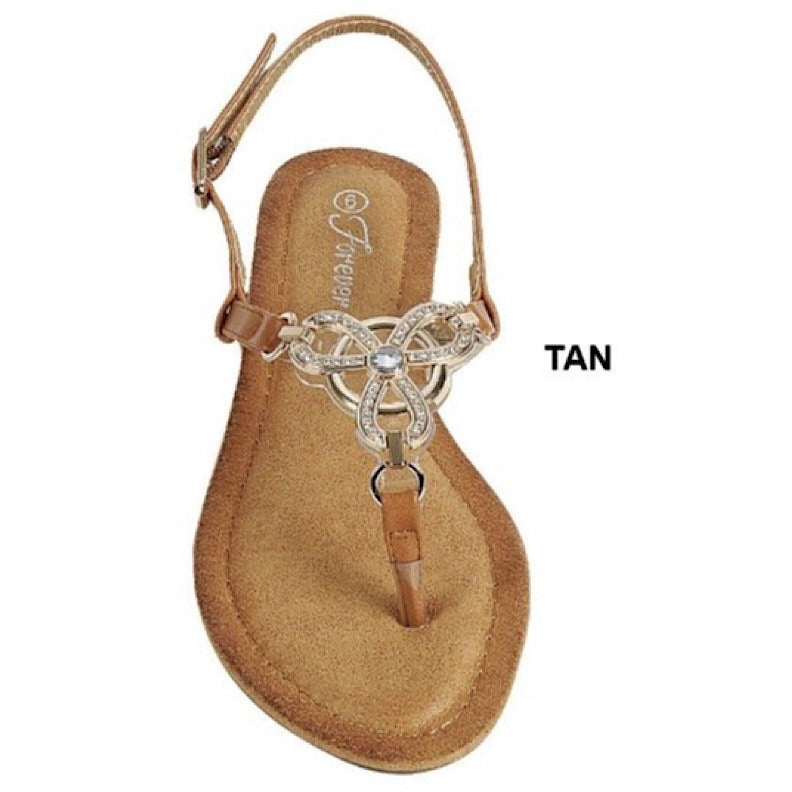 Gold Chain Thong Flat Sandal - Barbara's Boutique
