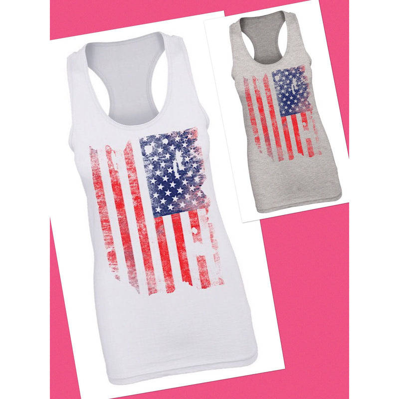 Faded American Flag Tank - Barbara's Boutique