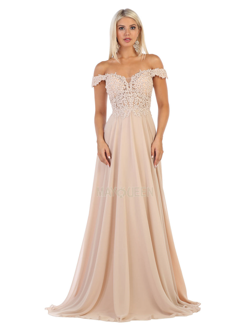 Royal Off The Shoulder Plus With Lace Accents