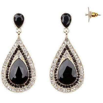 TEARDROP PRECIOUS GEMSTONE POST EARRING