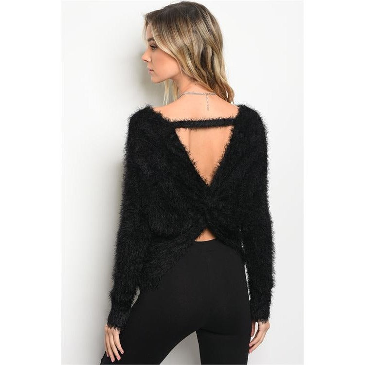 Fuzzy Sweater - Barbara's Boutique