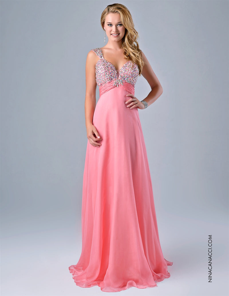 Sparkeling Evening Gown by Nina Canacci - Barbara's Boutique