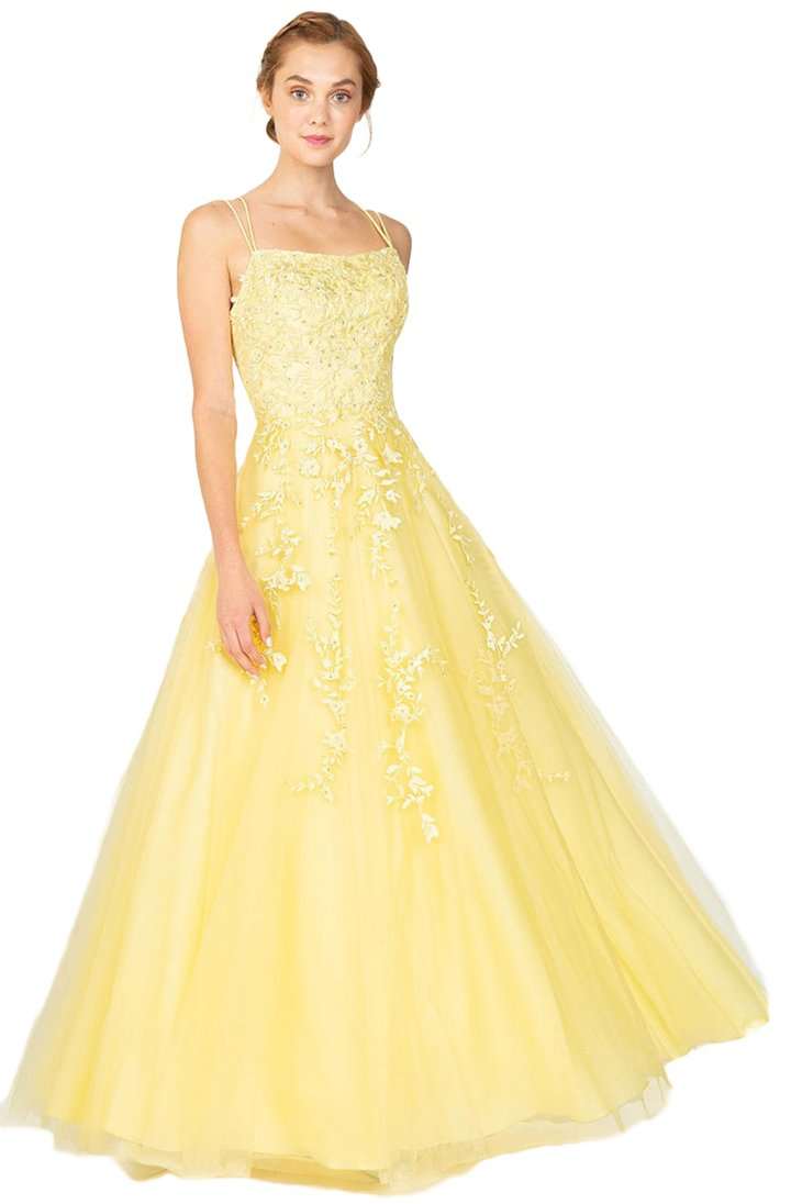 Yellow Lace Full Skirt