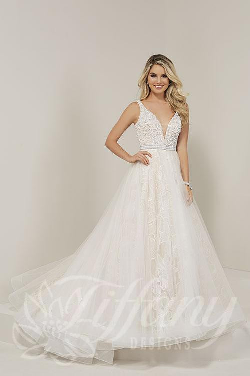 Tiffany Designs 16360 Ivory/Nude Wedding Gown