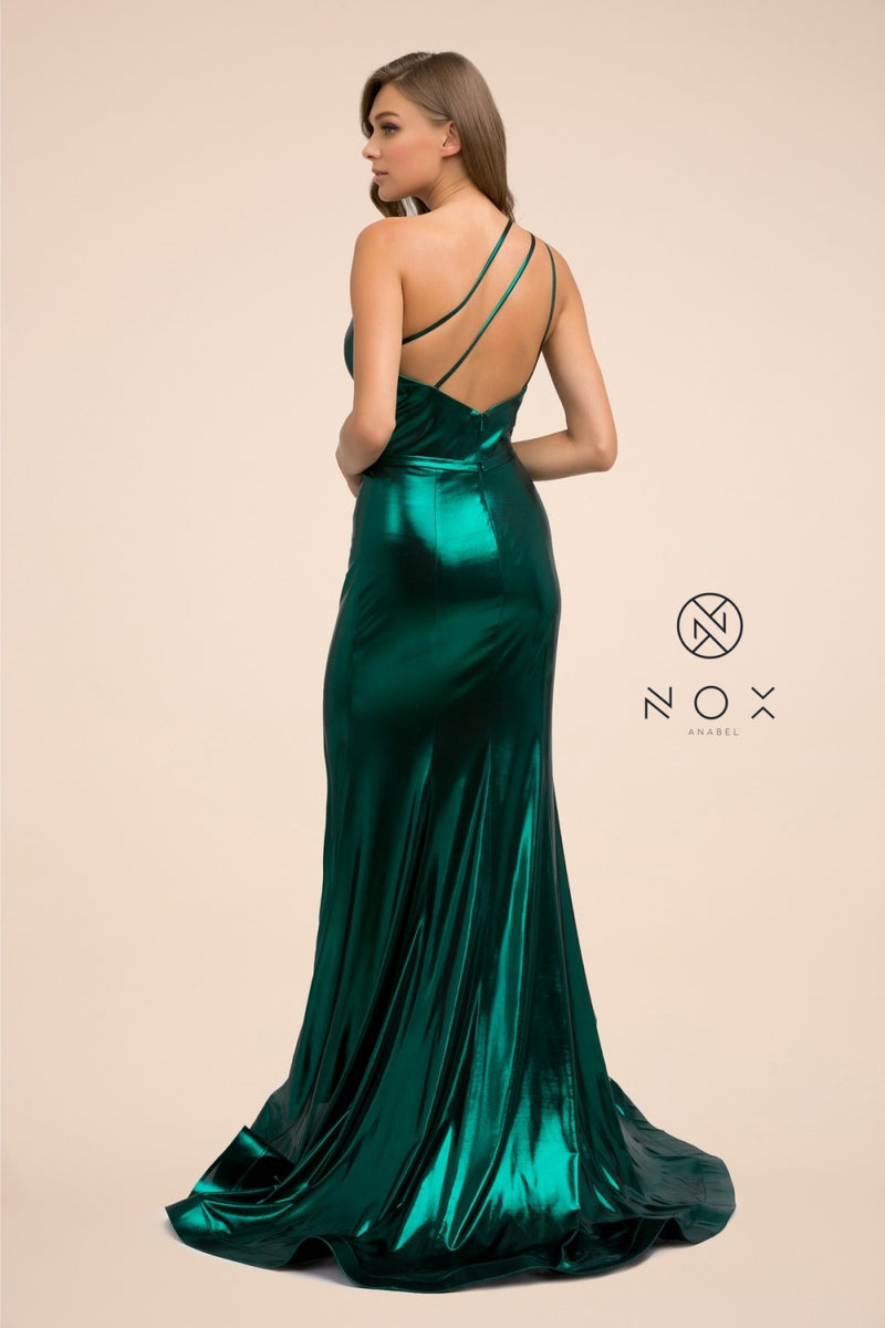 One Should Dark Green With Strappy Back & Slit