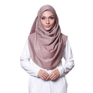 Light Brown Cotton Crepe Instant Hijab Scarf