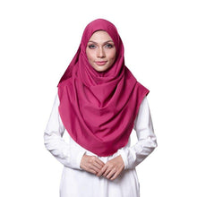 Magenta Cotton Crepe Instant Hijab Shawl Scarf
