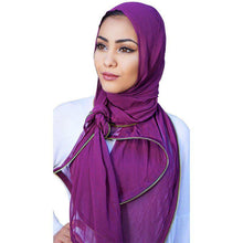Zipper Edge Hijab Scarf
