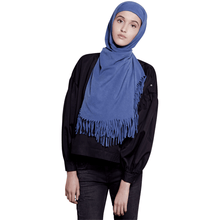 Tyra Jersey Denim Blue W/ Denim Washing Hijab Scarf