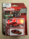 Majorette Die Cast Deluxe Car- FORD MUSTANG FASTBACK 1967 RED FLAMES