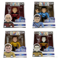 Jada Metals Figures Star Trek Bundle Spock Kirk Picard Data Set of 4