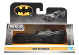 Jada Diecast Metal 1:32 Scale Batman Vehicle Batmobile 1989 Michael Keaton