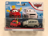 Disney Cars 3 Diecast 1:55 Scale Movie Moments 2 pack- MADDY MCGEAR MELISSA BURNABRAKE