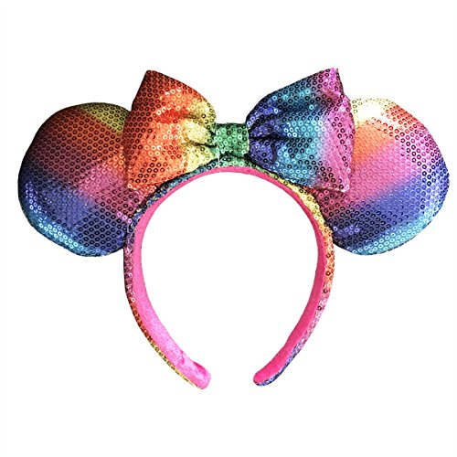 Disney Parks Rainbow Ears with Bow Headband - Limited Edition - Discontinued