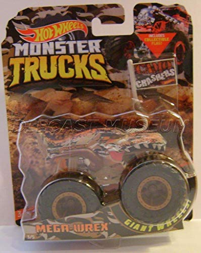 HW TRUCK MEGA WREX T-REX Dinosaur CAMAO Crashers with Flag Monster Trucks DIECAST 2018 / Monster JAM