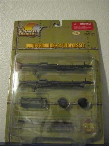 The Ultimate Soldier WW2 German MG-34 Weapons Set 1:6