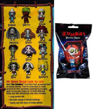 The Zumbies: Walking Thread (Single Pack) Lucky Zombie Doll & Trading Card Keychain (Random Package)