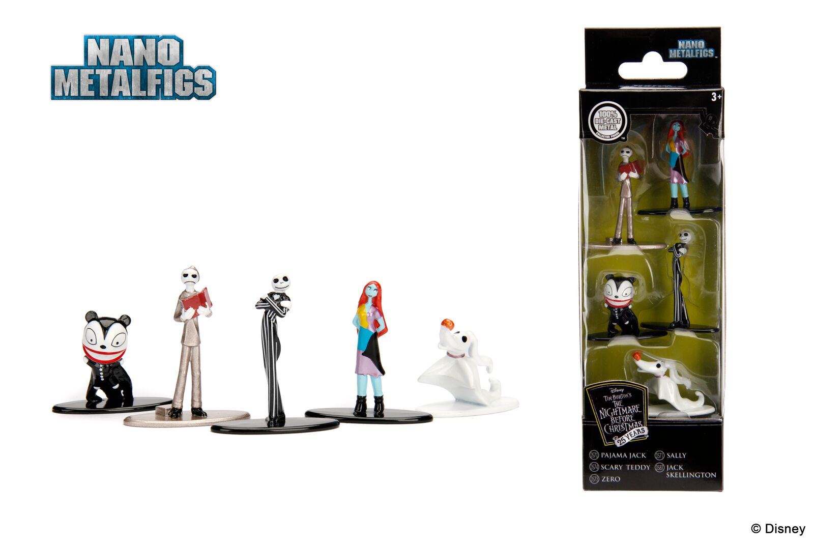 Jada Nano Figures Nightmare Before Christmas 5 Pack Jack Skellington ...