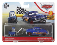 Disney Cars Diecast 2 pack- Dirt Track Hudson Hornet Double Clutch Daley