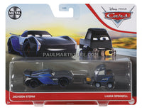 Disney Cars Diecast 2 pack- Jackson Storm Laura Spinwell