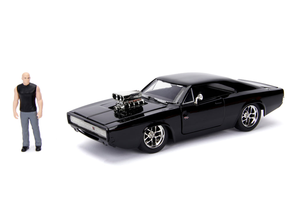Jada Diecast Metal 1:24 Fast and Furious 1970 Dodge Charger Dominic Toretto