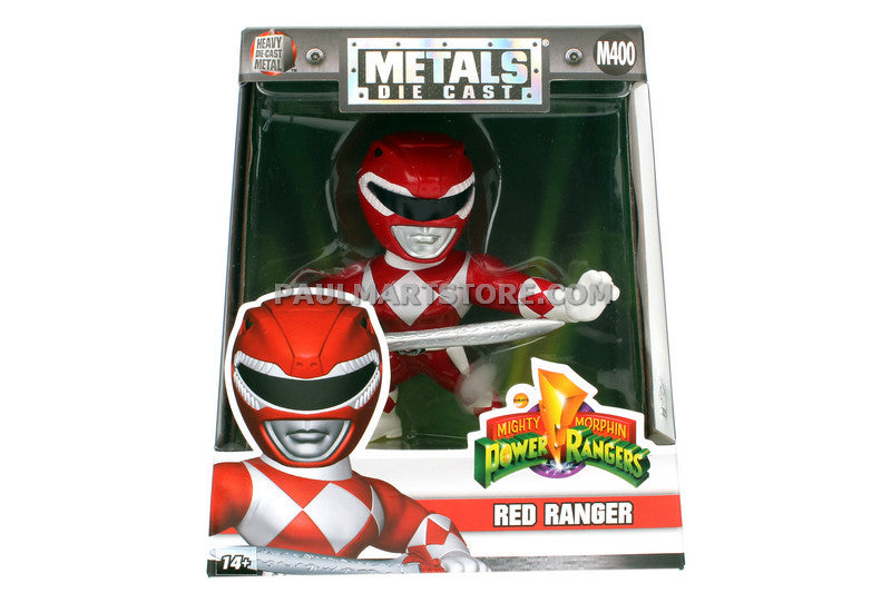 "Jada Diecast 4"" Metals Power Rangers Red Ranger M400"