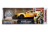 Jada Diecast Metal 1:24 Scale Transformers Movie Last Knight Bumblebee with COIN