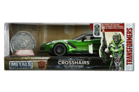Jada Diecast Metal 1:24 Scale Transformers Movie Last Knight Crosshairs with COIN
