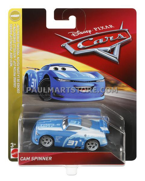 Disney Cars 3 Diecast 1:55 Scale Cam Spinner
