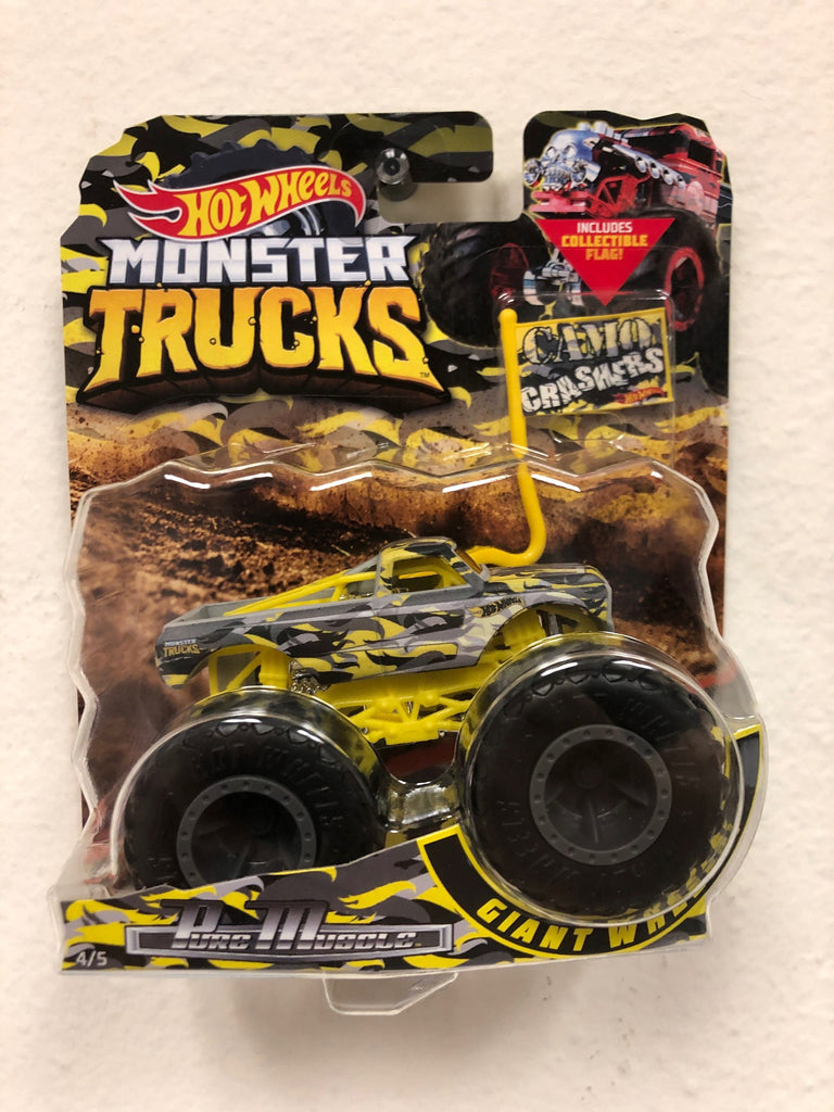 Hot Wheels Monster Truck Camo Crashers 1/64 Pure Muscle Truck