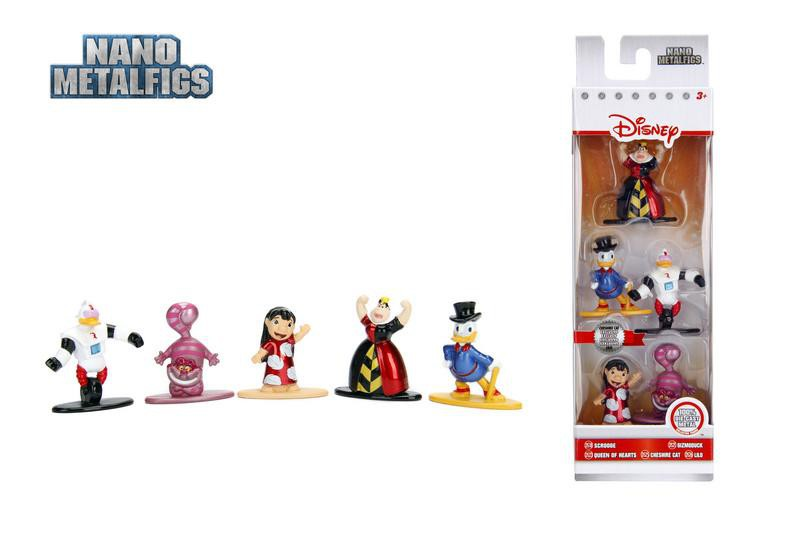 Jada Nano Figures Disney 5 pack W2- Scrooge Queen Hearts Chesire Cat Lilo Gizmo Duck
