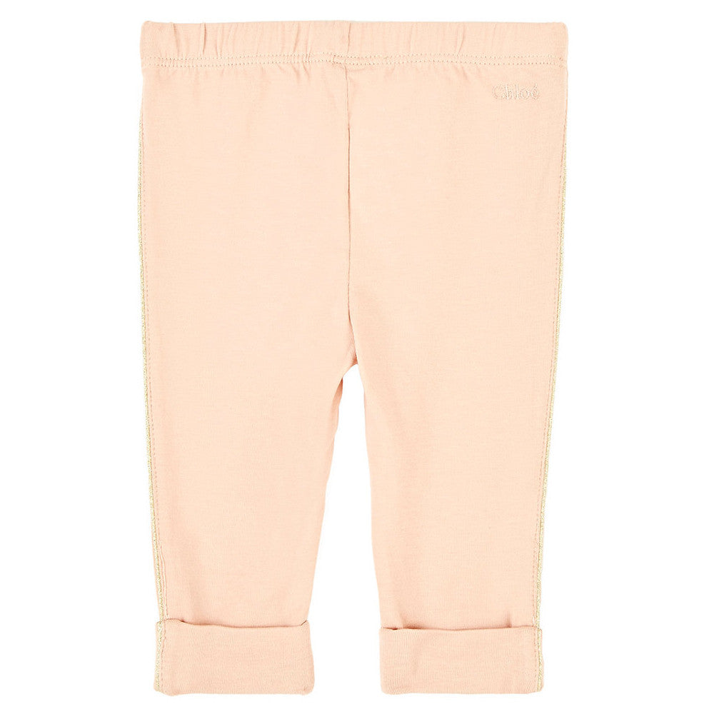 293621248 Chloe Baby Girls Pale Pink Leggings Baby Bottoms Chloé  Petit New York