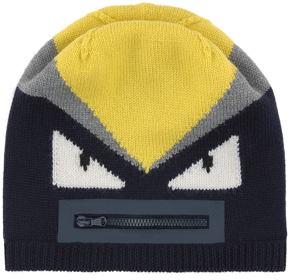 6a7a2cc2749 Fendi Kids Unisex  Monster  Beanie Hat – Petit New York