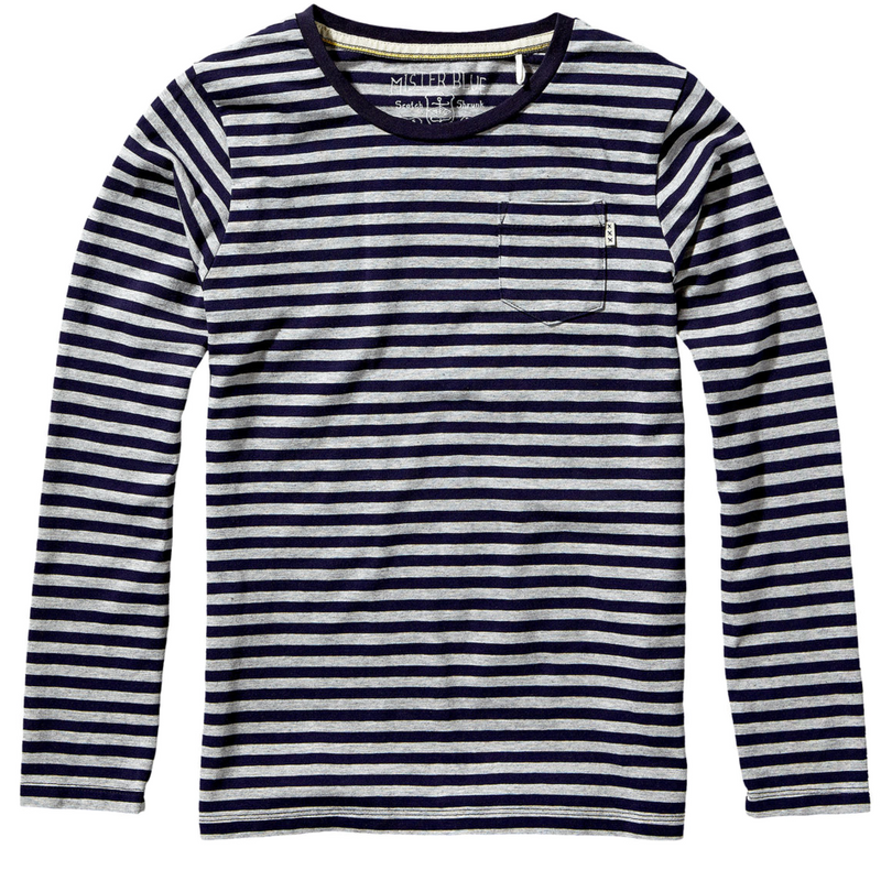 Scotch & Soda Boys Long-Sleeved Striped T-shirt Boys Shirts Scotch Shrunk [Petit_New_York]