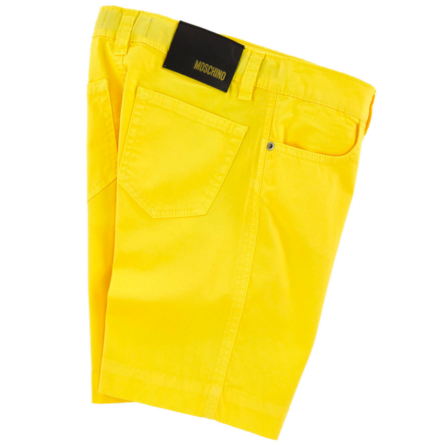 Moschino Boys Yellow Bermuda Shorts Boys Shorts Moschino [Petit_New_York]