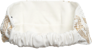 Versace Girls Ivory Studded Headband Girls Hats, Scarves & Gloves Young Versace [Petit_New_York]