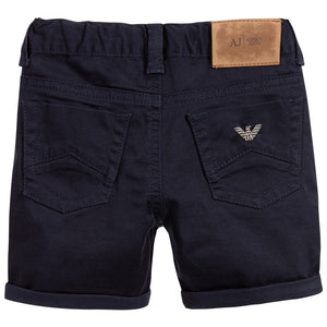 Armani Boys Navy Blue Shorts Boys Shorts Armani Junior [Petit_New_York]
