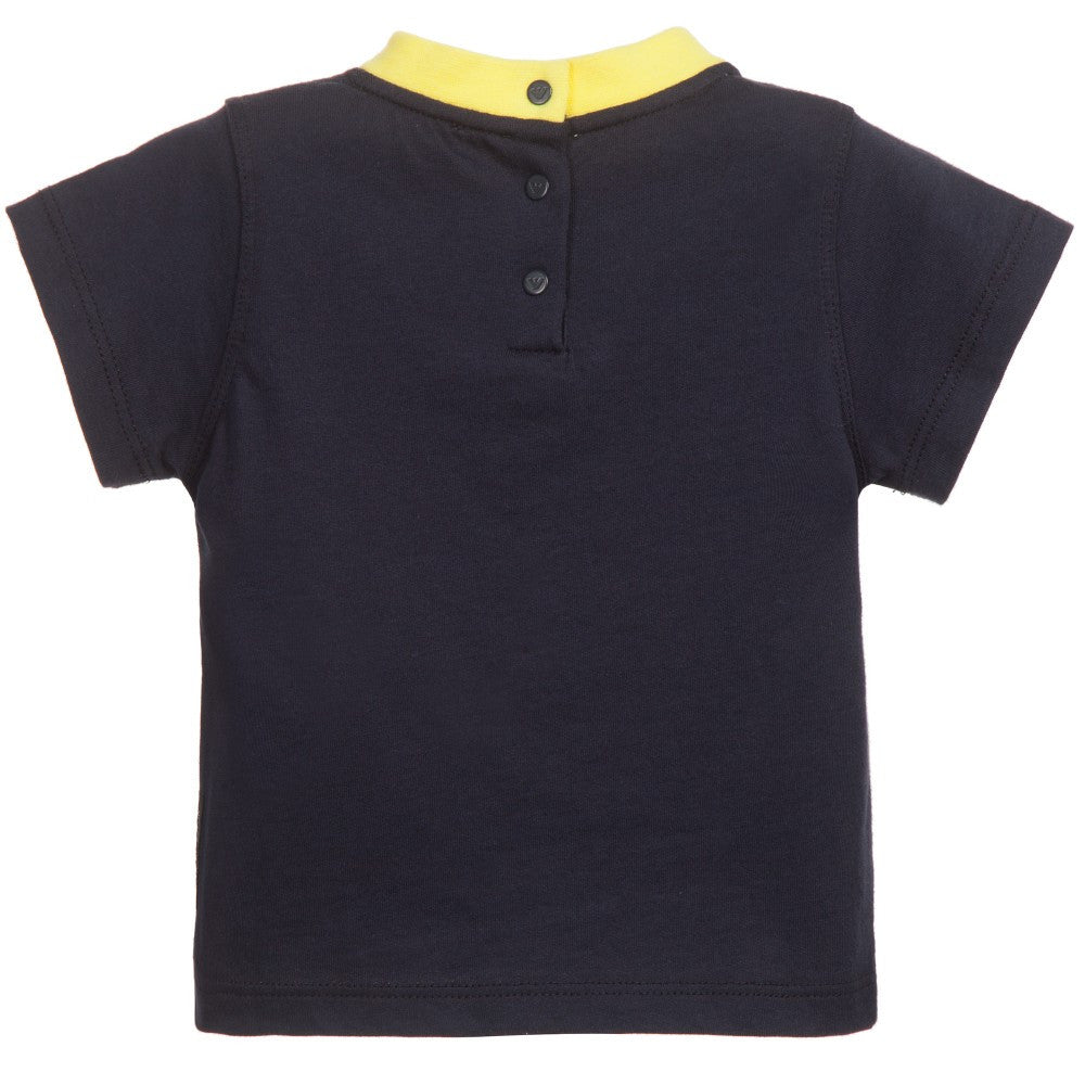 Armani Baby Boys Navy T-shirt Baby T-shirts Armani Junior [Petit_New_York]