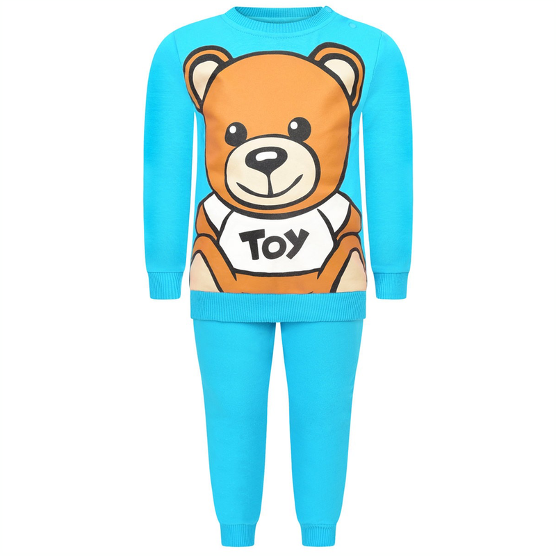 Moschino Baby Turquoise Tracksuit Baby Sets & Suits Moschino [Petit_New_York]