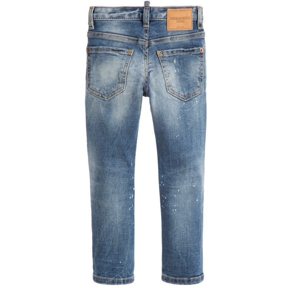 Dsquared2 Boys Blue 'Cool Jeans' Boys Pants Dsquared2 [Petit_New_York]