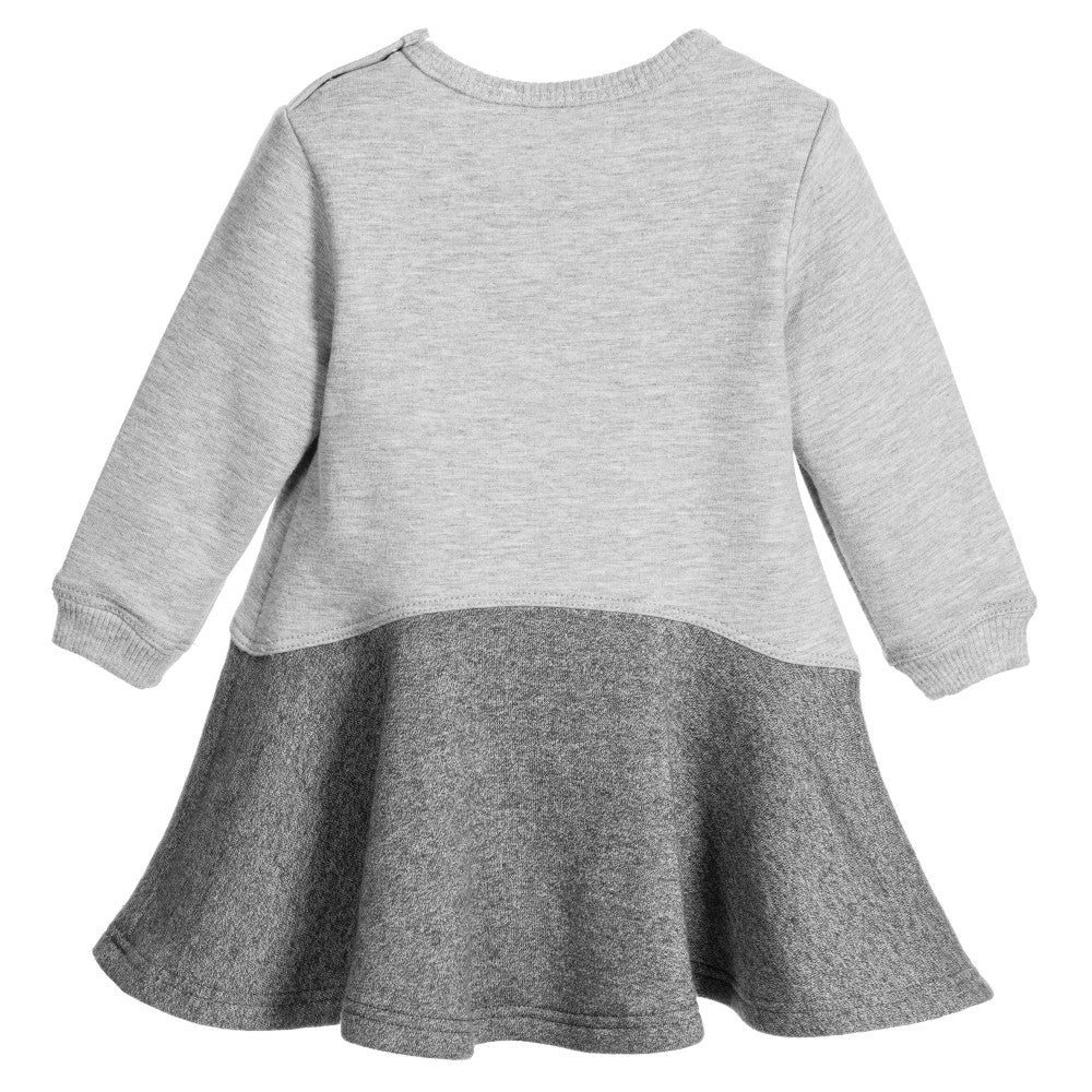 Kenzo Baby Girls Grey Tiger Sweatshirt Dress Baby Dresses Kenzo Paris [Petit_New_York]