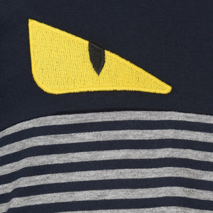 Fendi Boys 'Monster' Striped Long-Sleeved T-shirt Boys T-shirts Fendi [Petit_New_York]