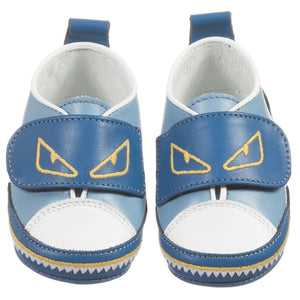 Fendi Baby Blue 'Monster' Shoe Baby Shoes Fendi [Petit_New_York]