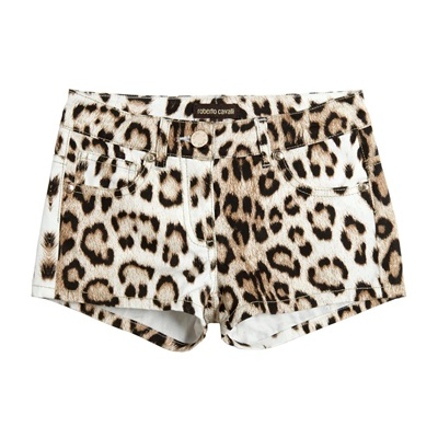Cavalli Girls Leopard Shorts Girls Shorts Roberto Cavalli Junior [Petit_New_York]